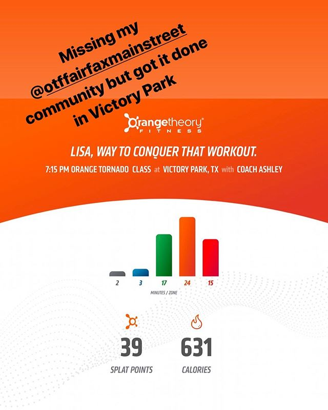 There's no excuse not to workout when orangetheory is right across the street from where you're working... it was the right way to end a long day... #myfit40s #orangetheoryfitness #tornadotuesday