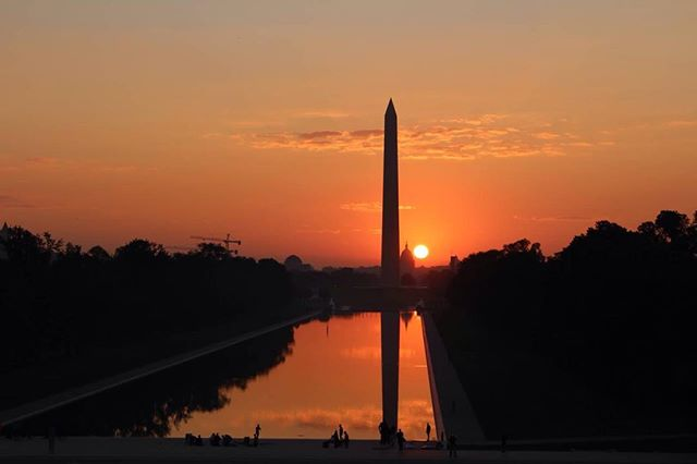 Happiness is the first day of fall/autumn... Sunrise over the national mall on the autumnal equinox 2014... it was completely worth being up so early on a Saturday.