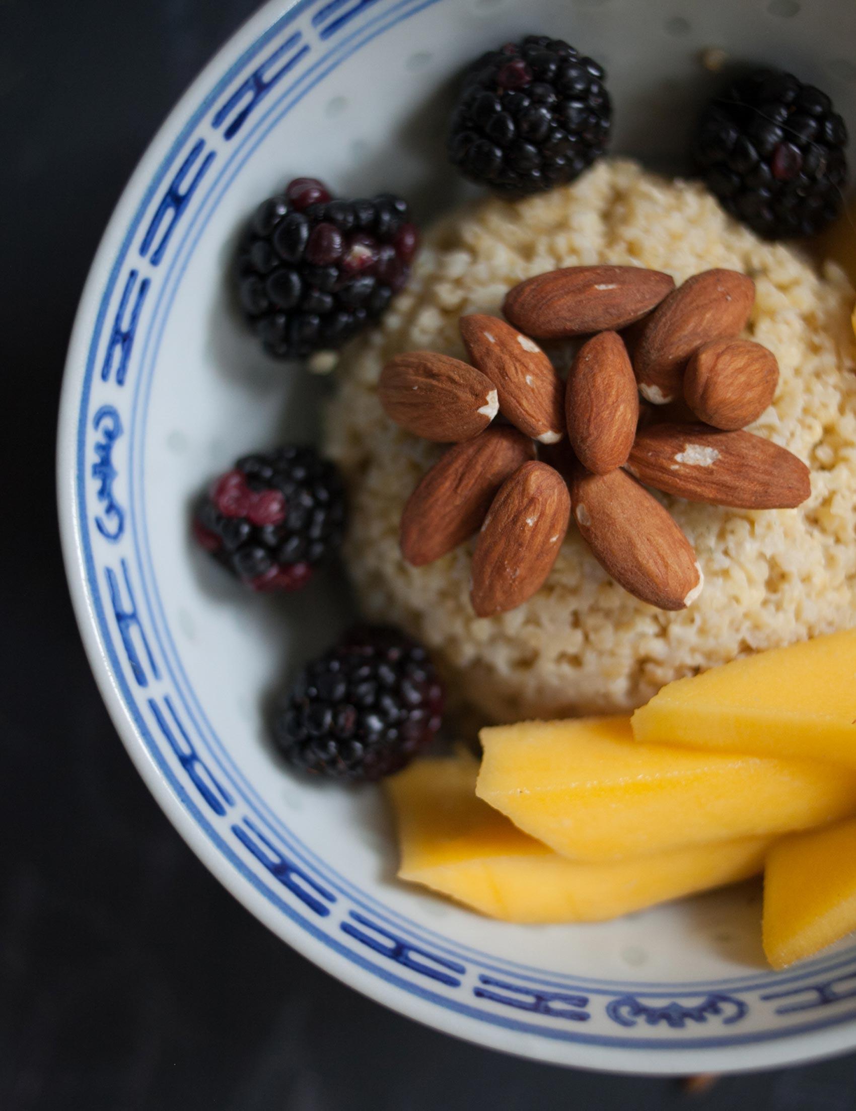 Almonds + Mango + Blackberries + Millet