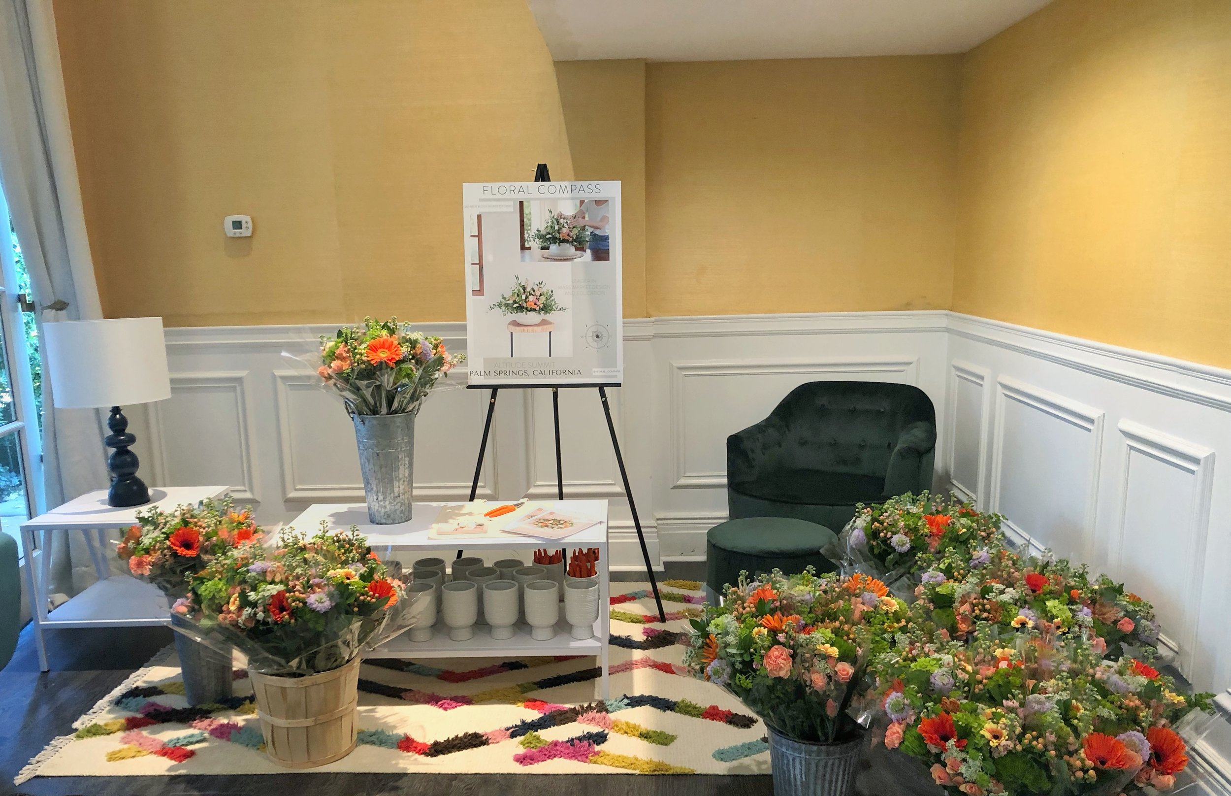 Amazon Home and Novogratz Floral Workshop with Floral Compass at the Parker Hotel in Palm Springs