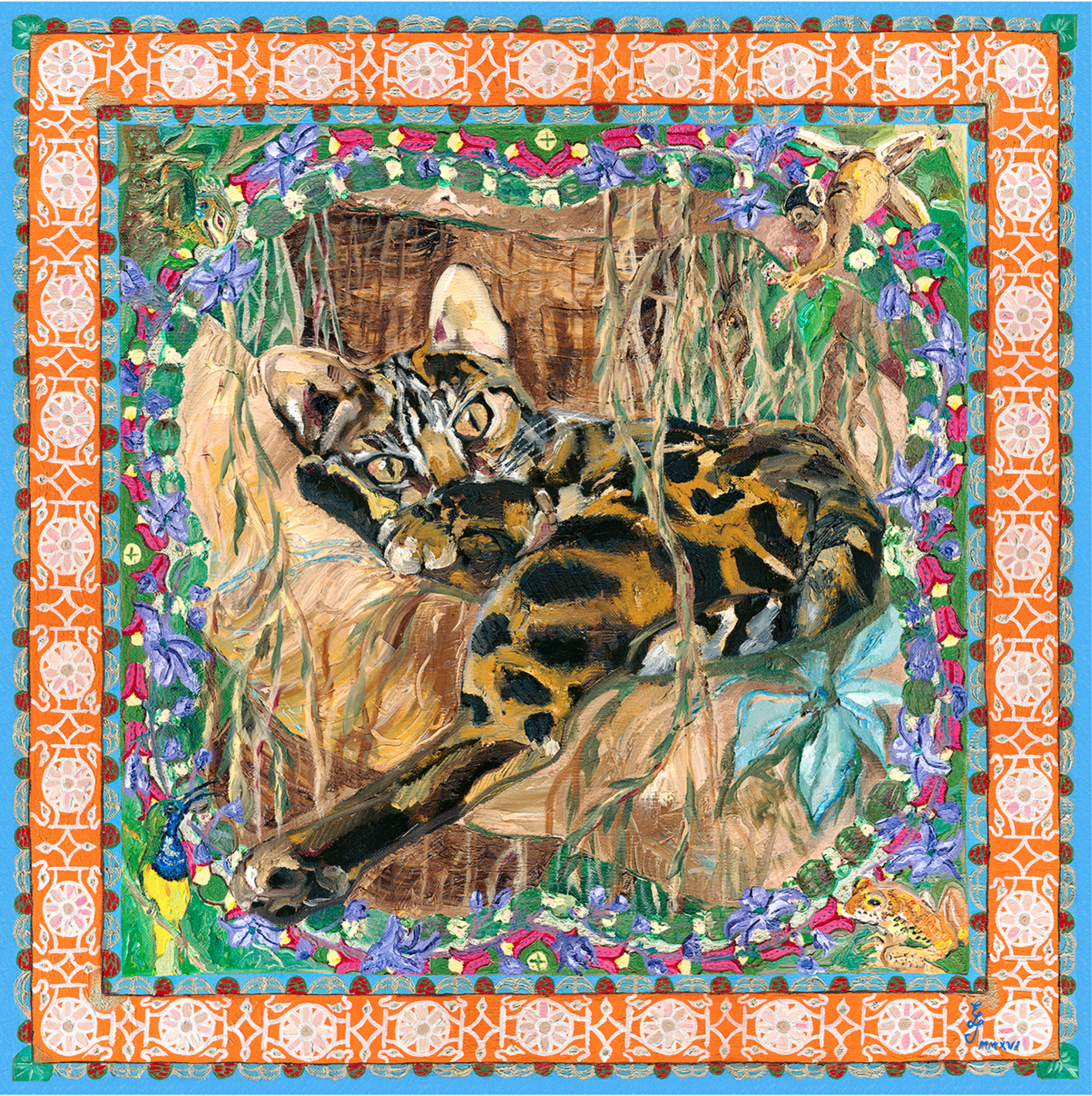 Felis Bengalensis Maximus MMXVI, 60x60cm, oil on canvas, 2016.