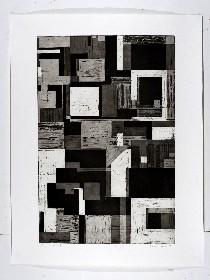 Landscape Series 1-4, Aquatint etchings, 80x108cm, 2008.