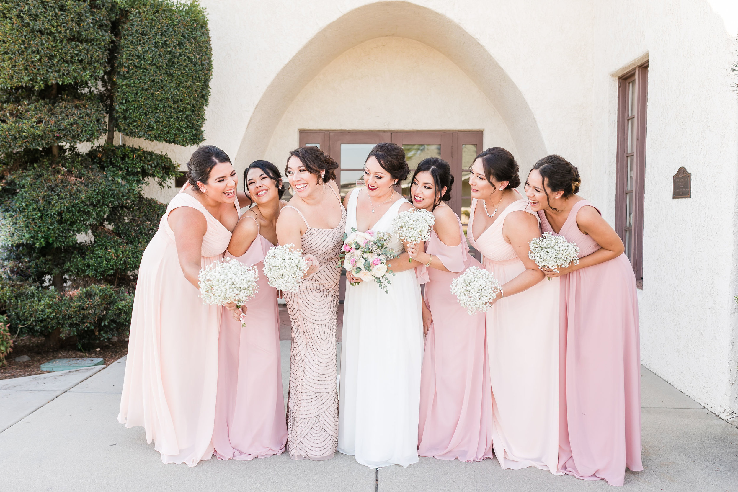 Hair on Bridesmaids by Lulu Bernal, Photo by: Staci Stack Photography