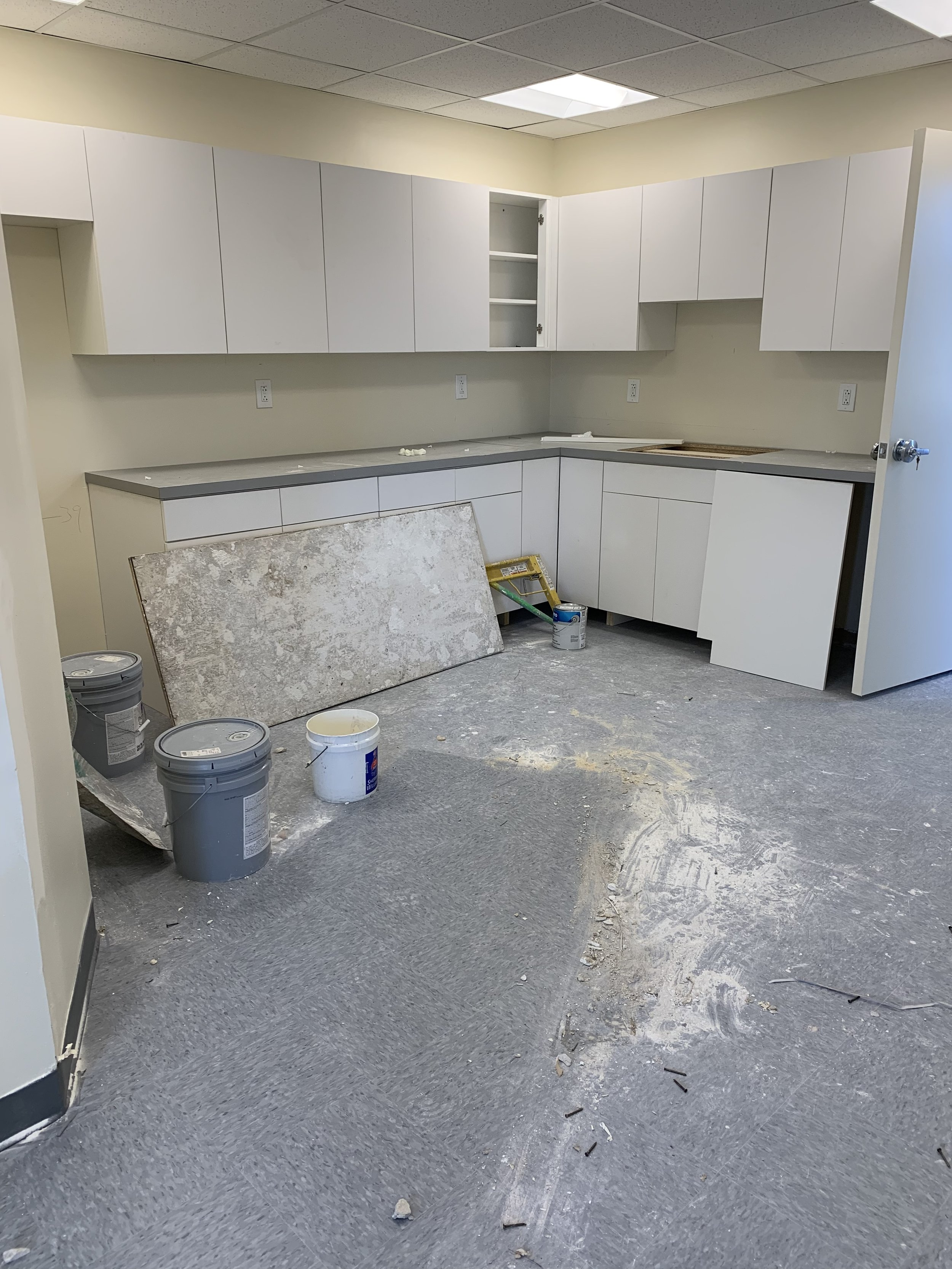 Kitchen area of the manufacturing suite.