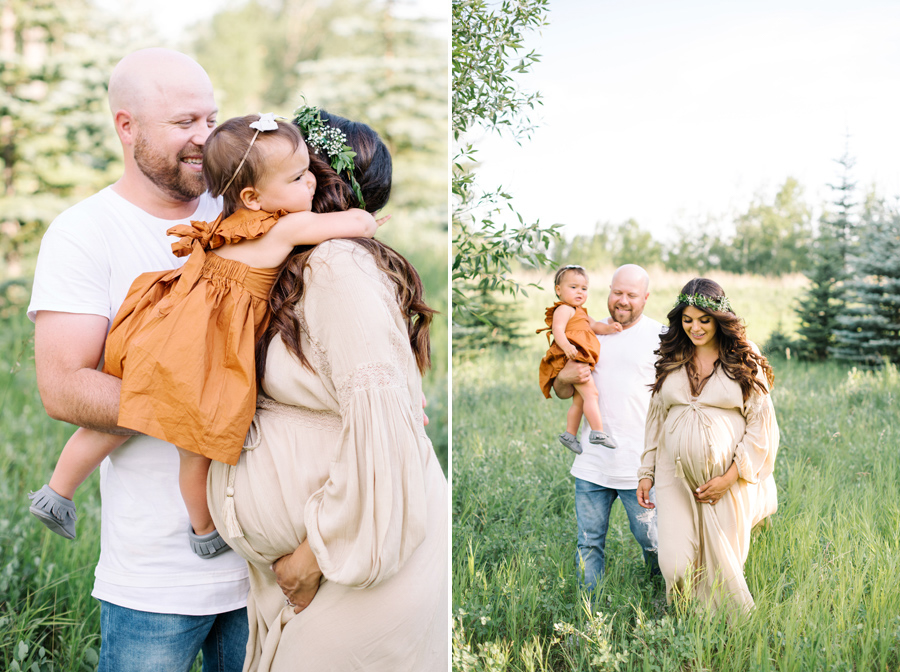 Summer maternity session in Calgary