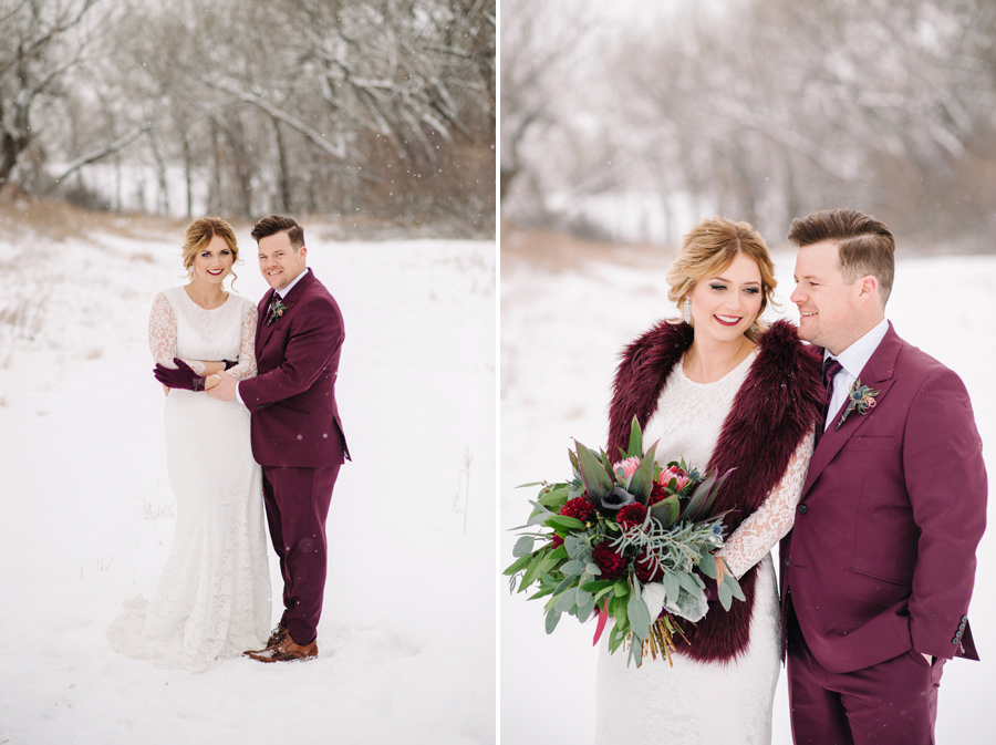 Alberta Winter Wedding Medalta