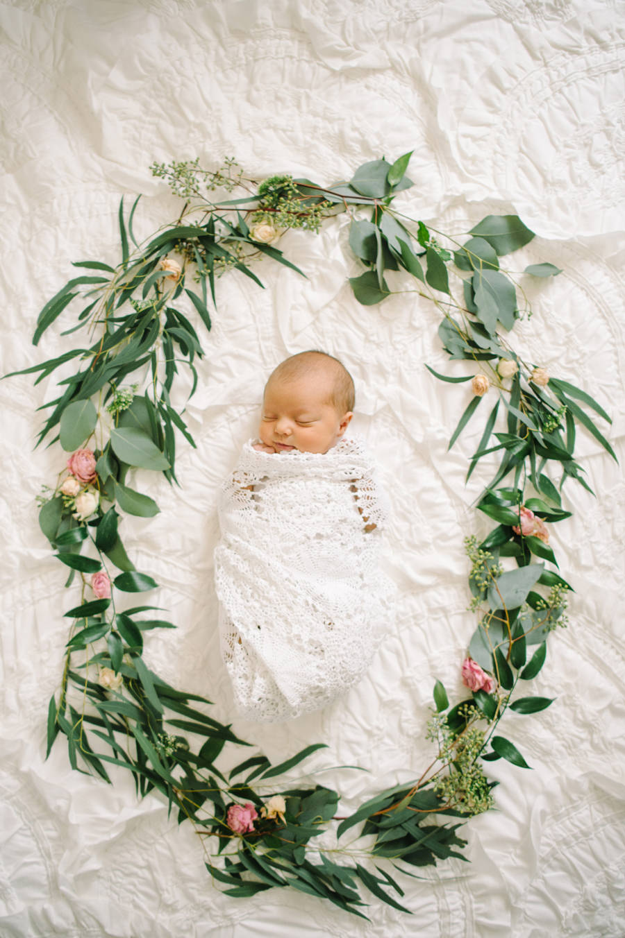 Newborn with Florals