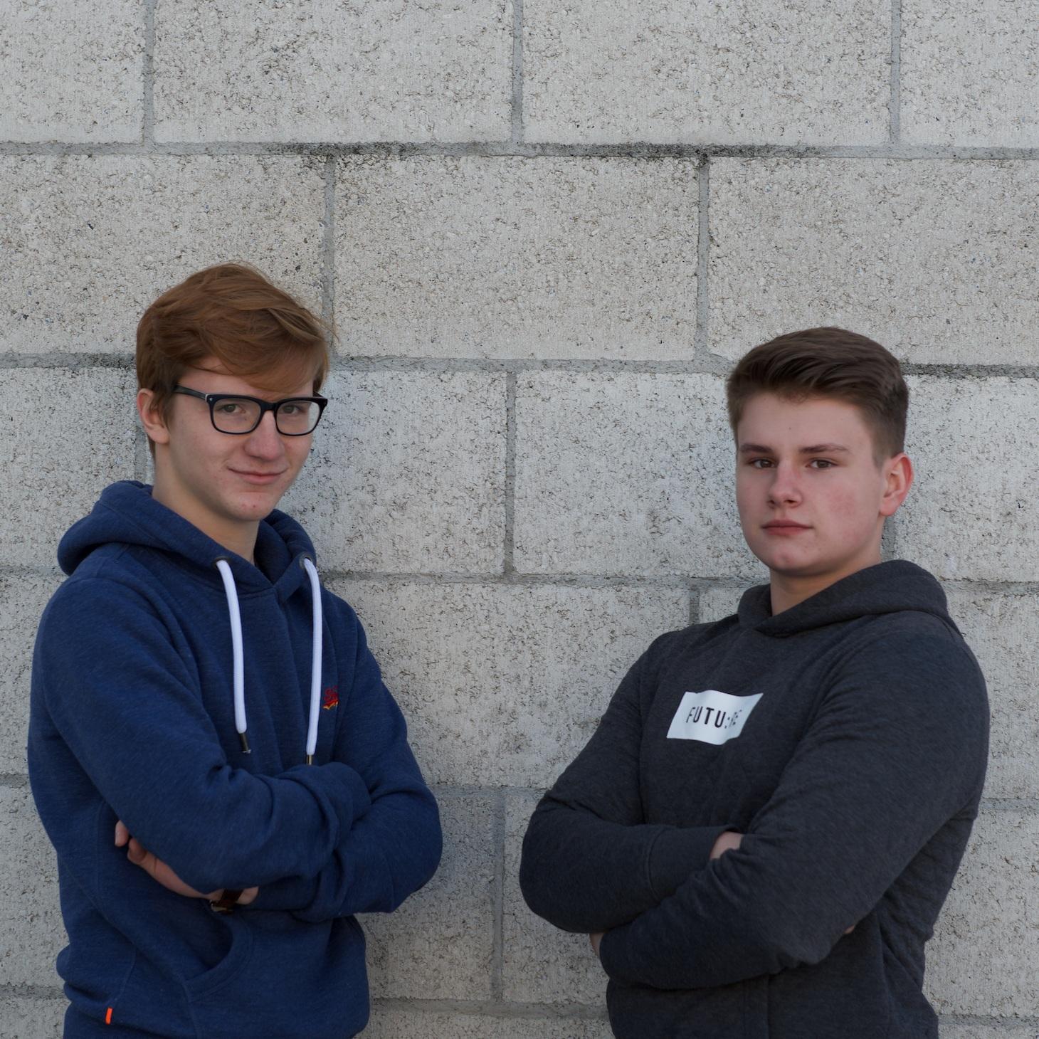 Elias (17) und David (16) - Konstrukteure