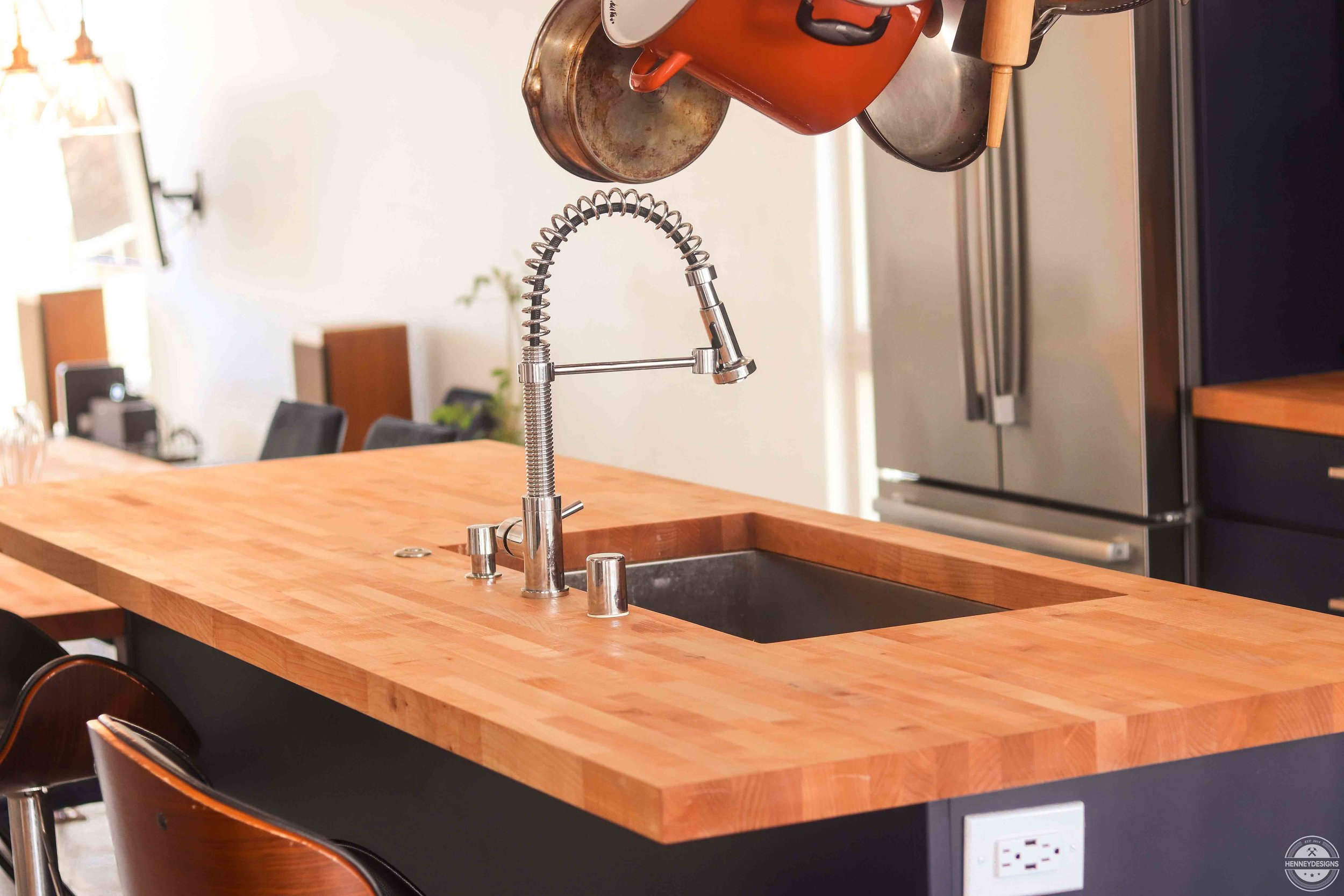 Butcher Block Kitchen Island With