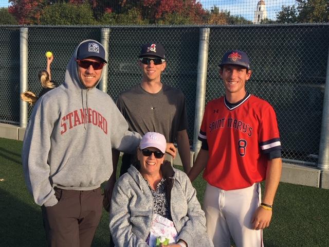 Gretchen, Stephen, Nick, Austin Piscotty