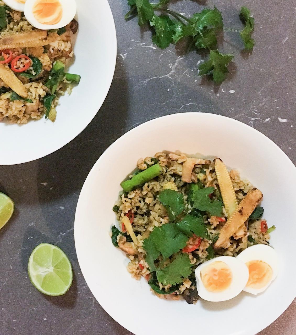 Healthy Nasi Goreng with Brown Rice