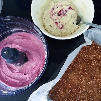 Raw Vegan Raspberry Cheesecake Slice
