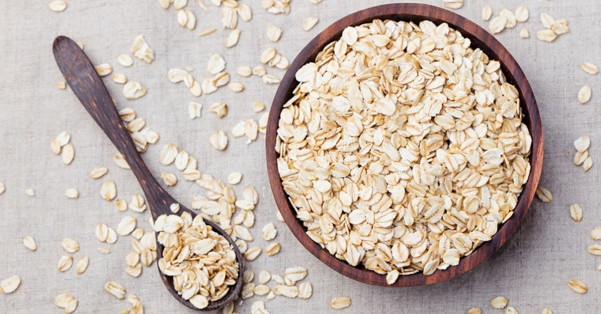 oats in a coconut bowl