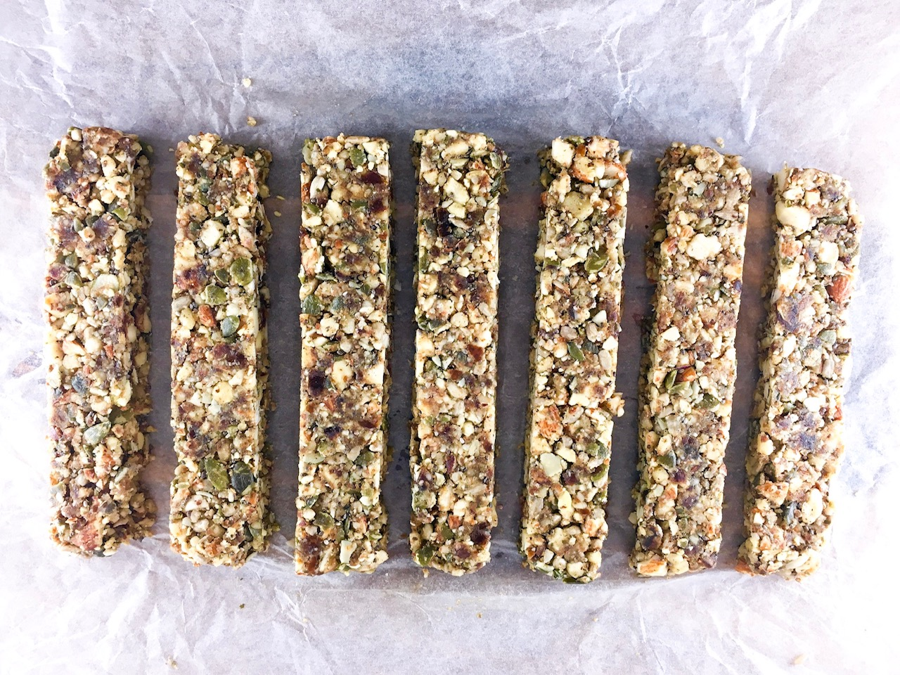Raw Paleo Seed & Nut Bars