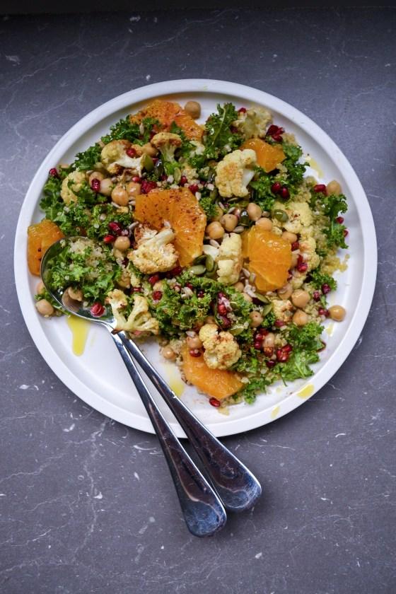 Cauliflower Quinoa & Kale Power Salad vegan