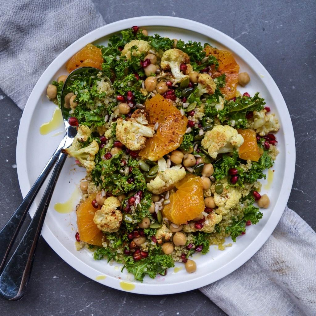 Cauliflower, Quinoa & Kale Power Salad vegan
