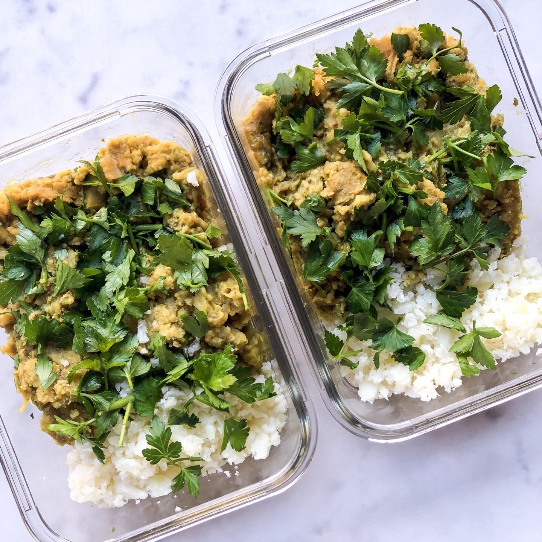 Wholesome Lentil Dahl with Cauliflower Rice Crock Pot