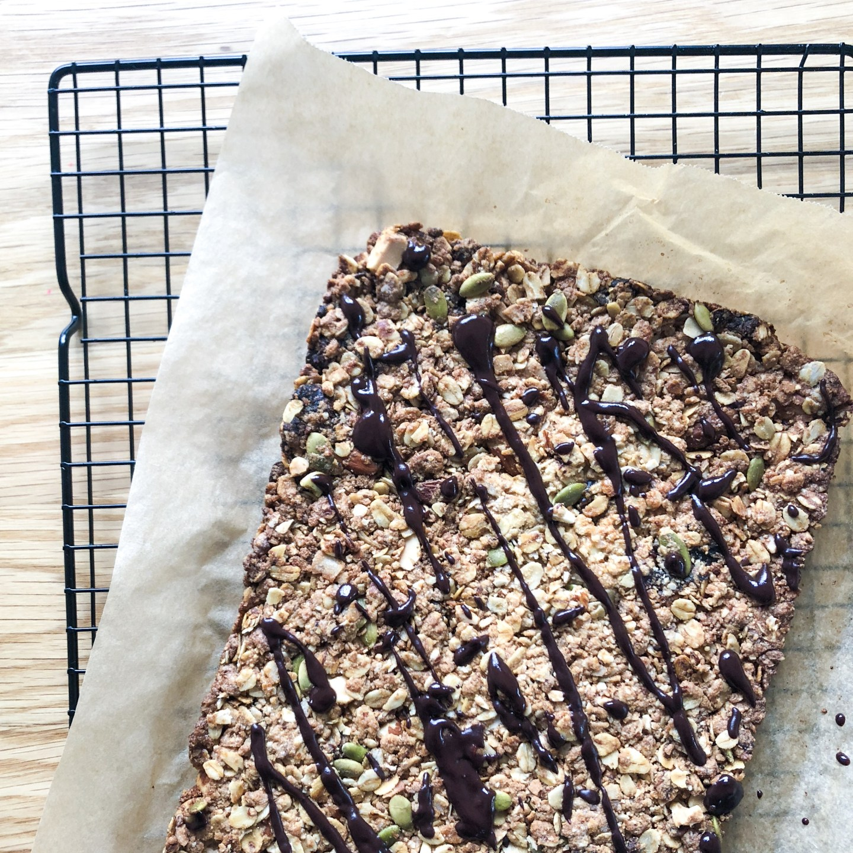Crunchy Hemp Seed Granola Bars