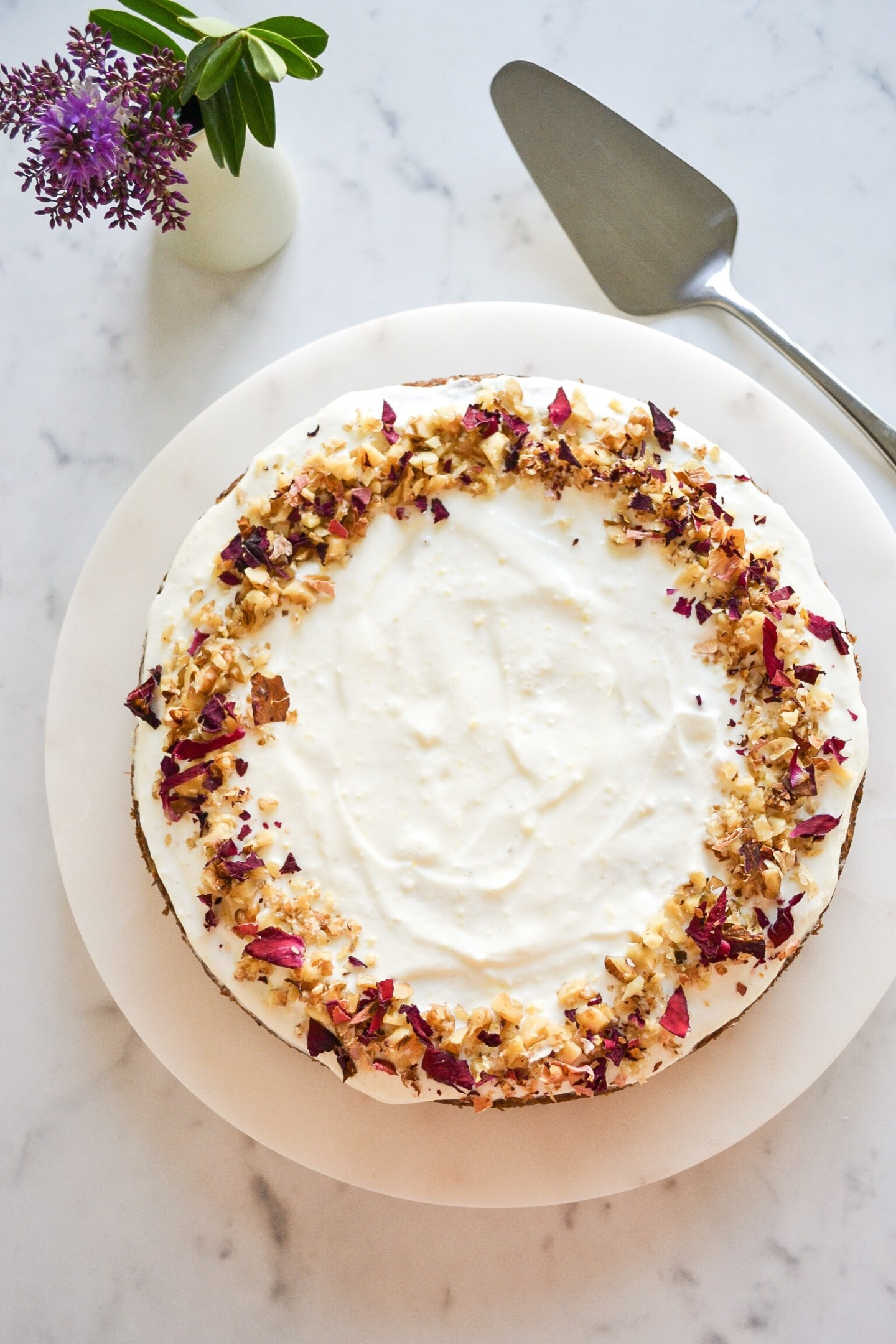 Healthy Carrot Cake with Lemon Yogurt Frosting