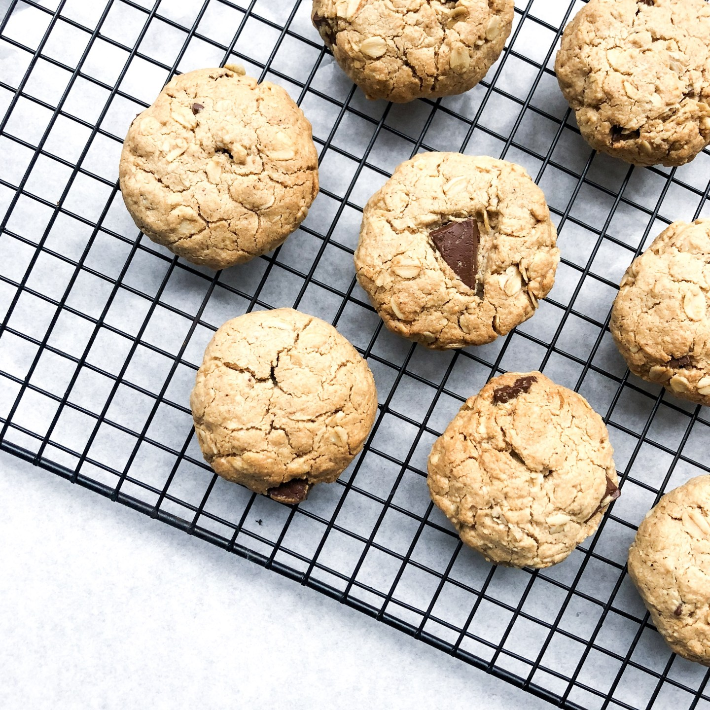 Salted Chocolate Oat Cookies (vegan friendly)