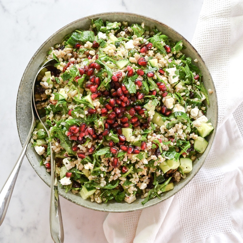 Cypriot Grain Salad - My Gluten Free Version