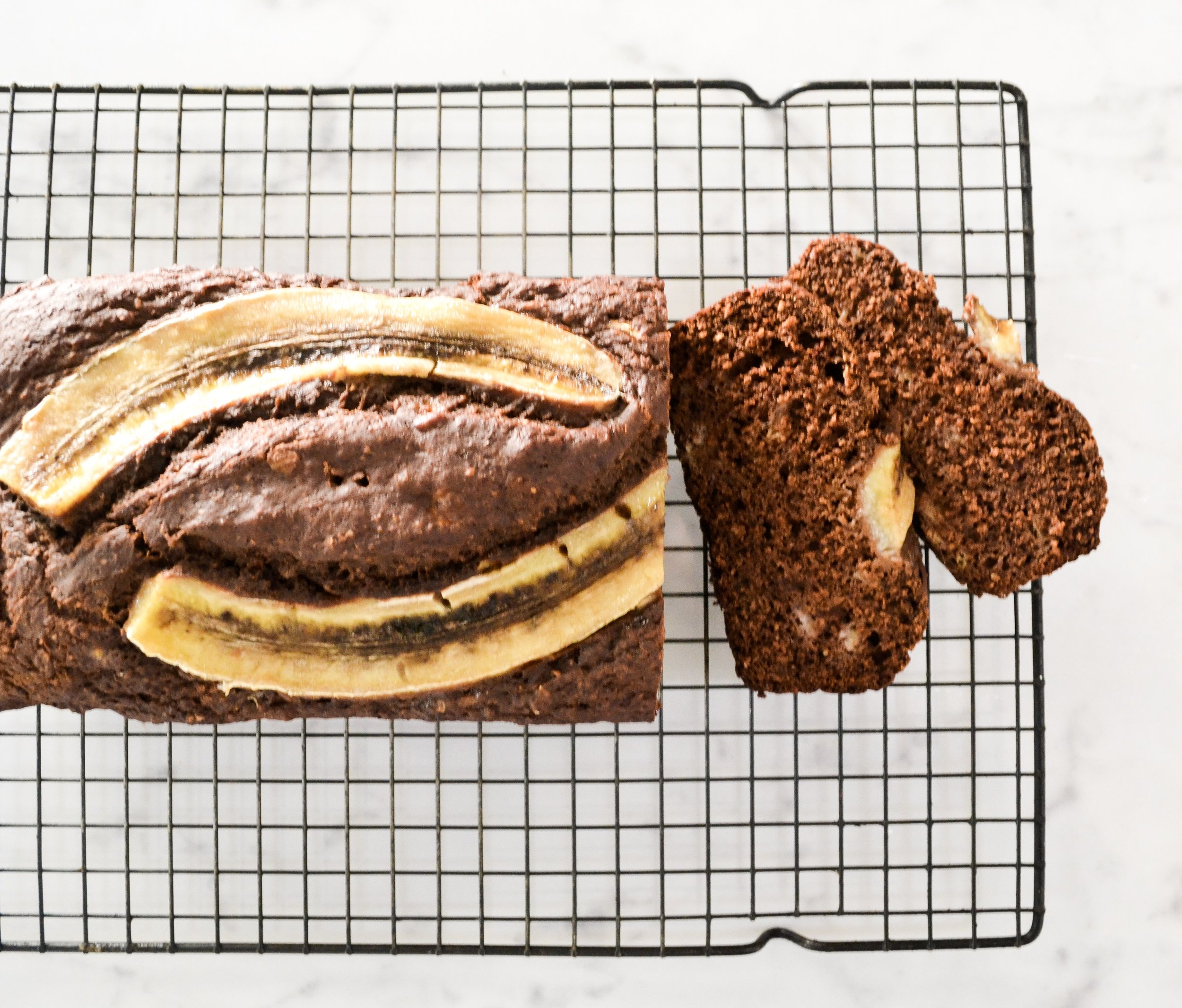 Gluten Free Buckwheat Chocolate Banana Bread