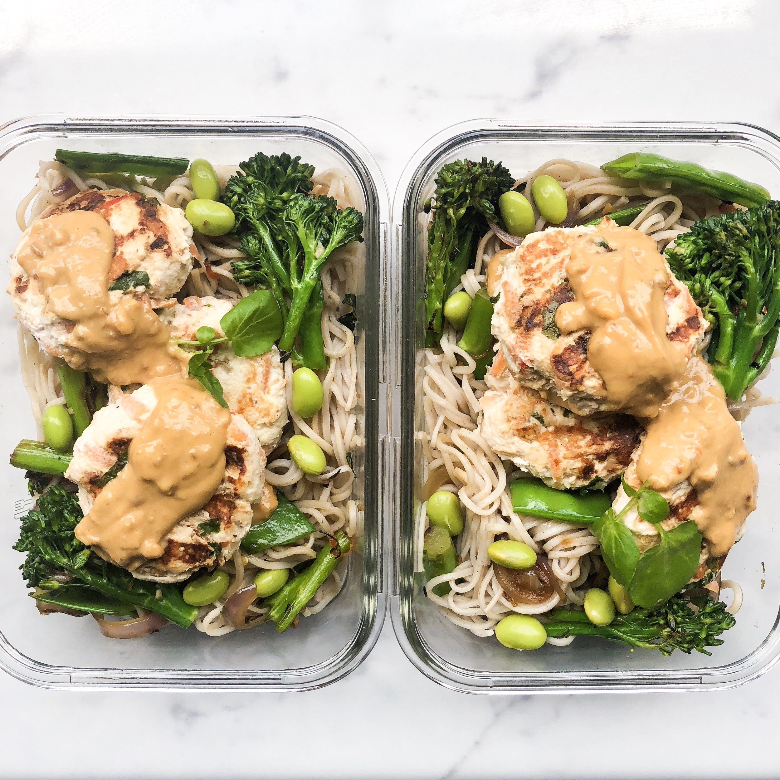 Meal prep lunch