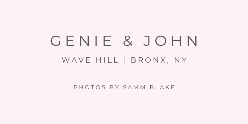 NYC Wedding at Wave Hill Photography