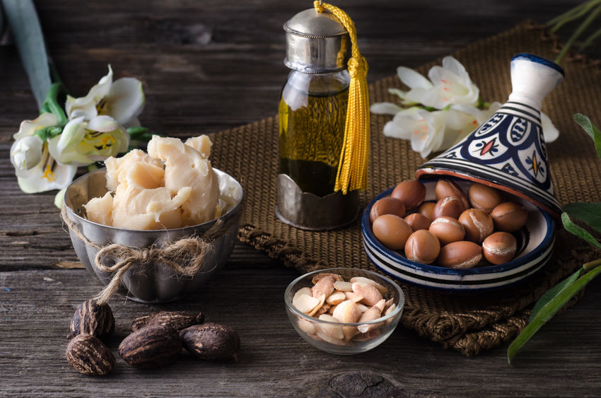 Shea butter and argan nuts
