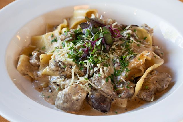 If you want to start the weekend off right, there's only one place to be tonight! Come to CMH for incredible gourmet dishes like this beef stroganoff!