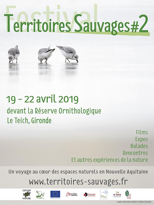 """Affiche de la 2ème édition du festival """"Territoires Sauvages"""""""