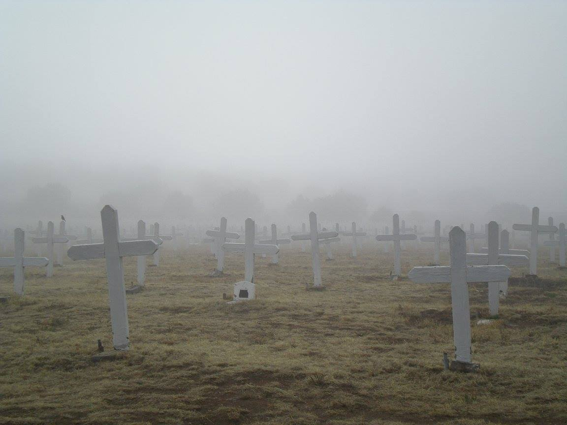 PHOTO: Merchant Marines Cemetery in Mist