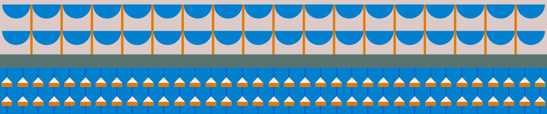 patterned banner