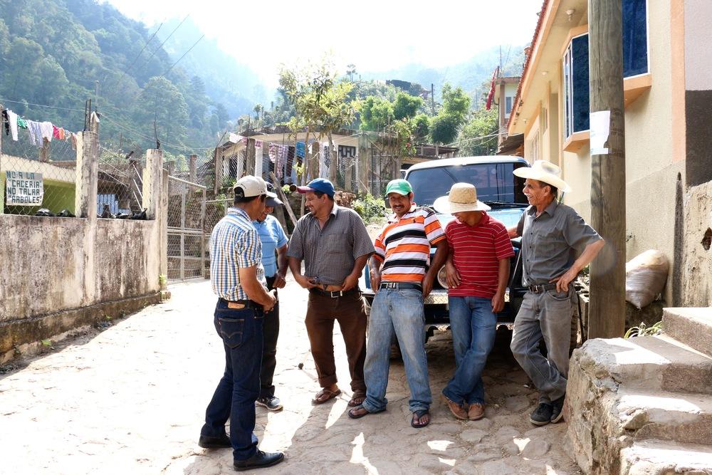 The Villatoro Family outside of Aurelio's house