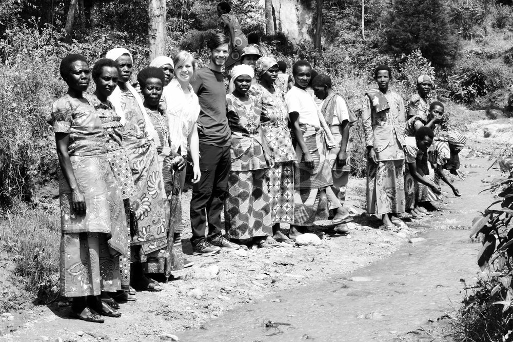 Jesse, Khristian, and Jared with the women of Nyampinga