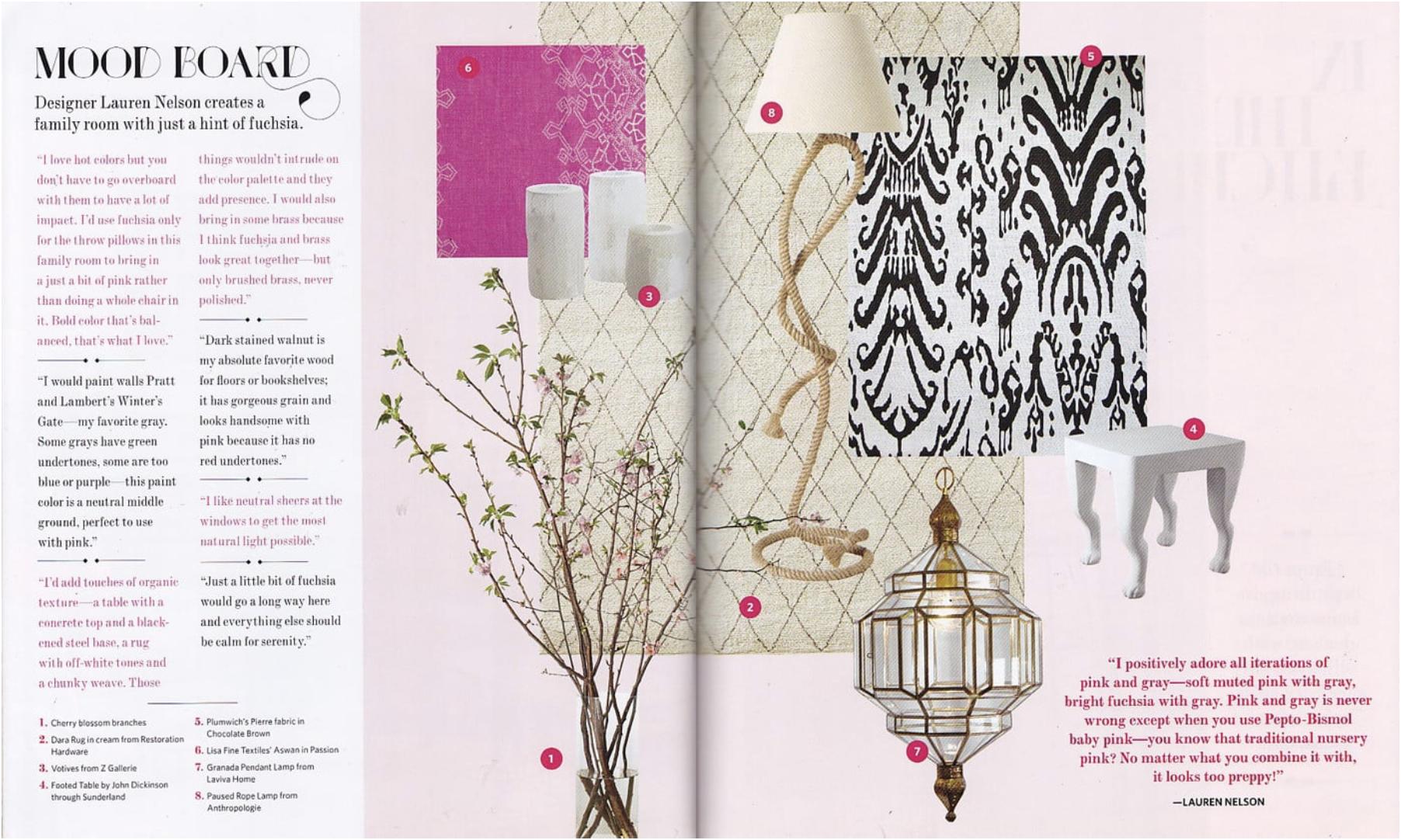 Lauren Nelson Design - HOUSE BEAUTIFUL PINK