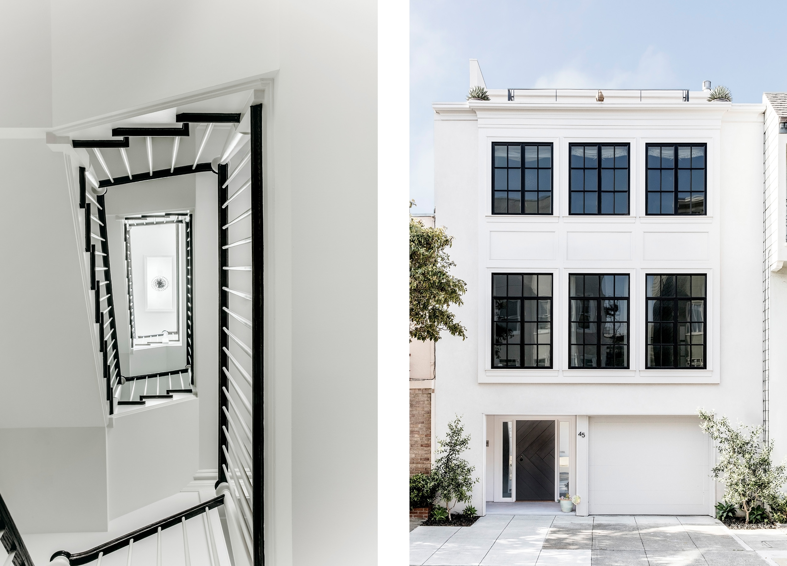 Lauren Nelson Design // Marina Home // Staircase & Exterior