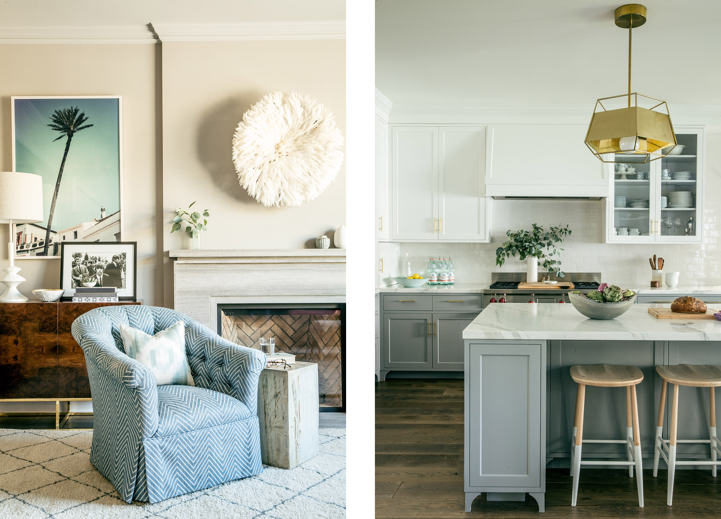 Lauren Nelson Design // San Francisco Home // Family Room & Kitchen