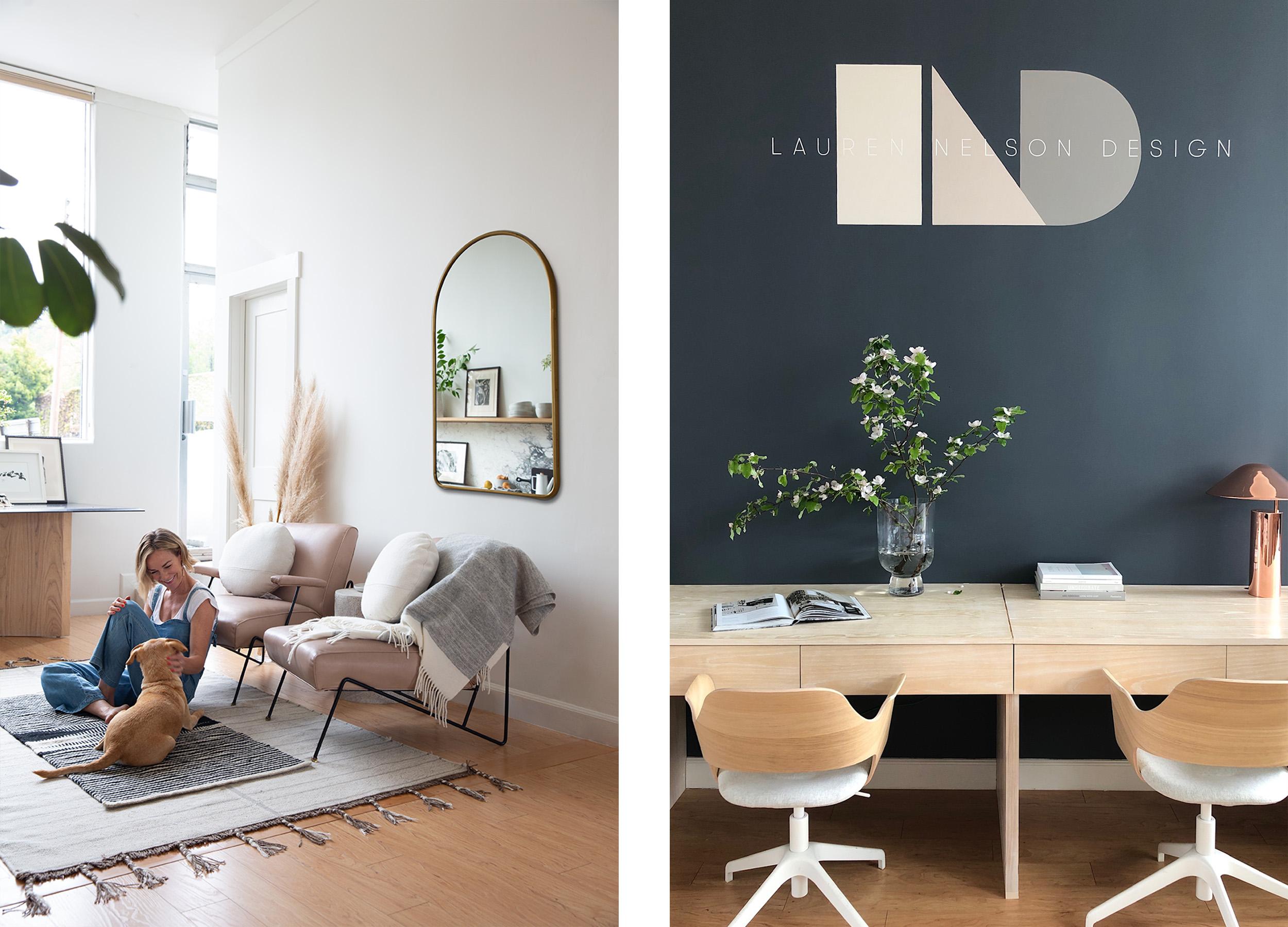 Lauren Nelson Design - LND Office - Sitting Area + Desks