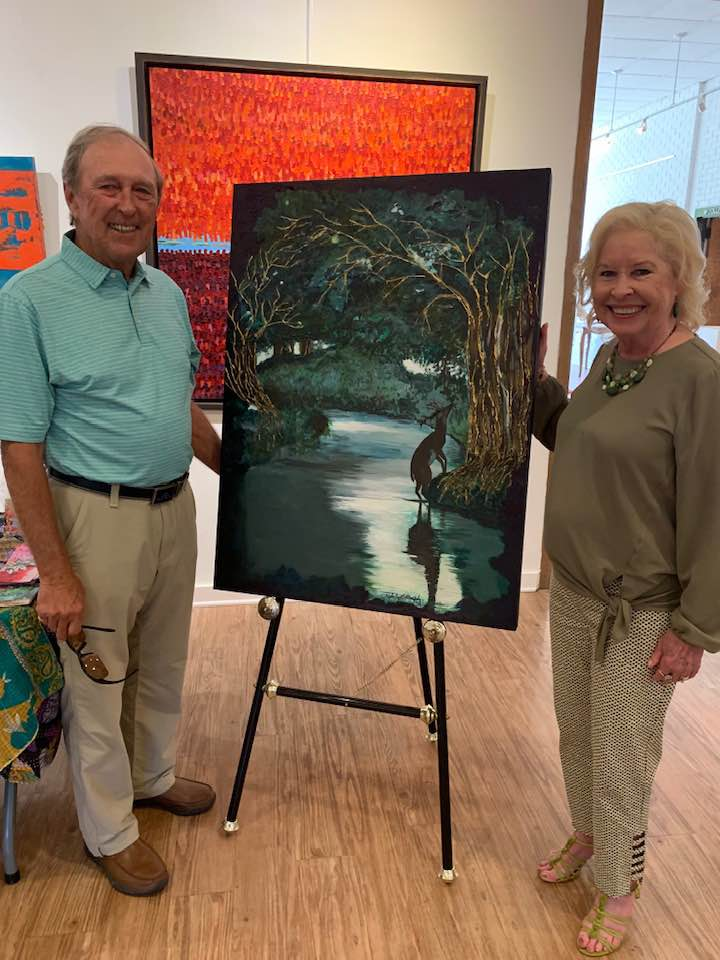 Butch and I admiring Kathy Murphy's Painting