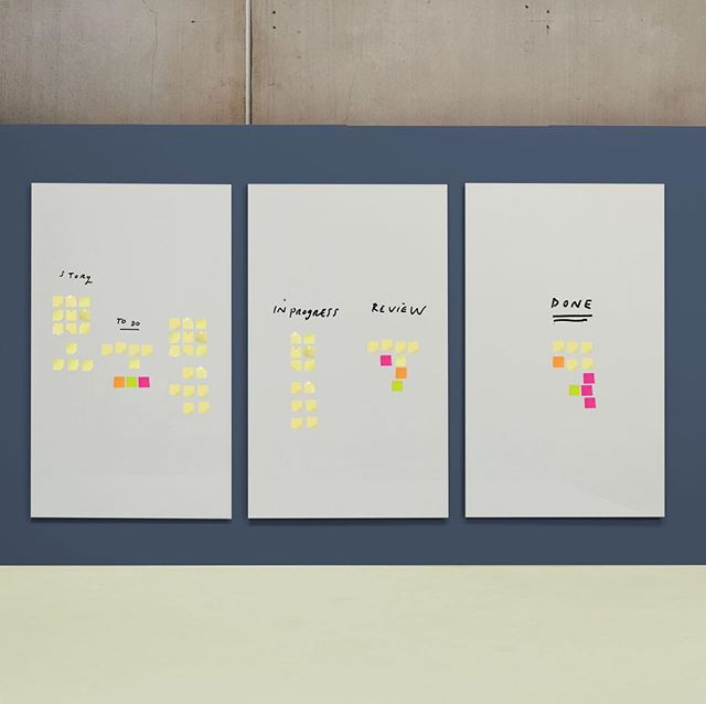 Use a combination of Enscribe Magnetic Glass Boards to create your SCRUM or KANBAN walls! #madeinmelbourne #madeinaustralia #enscribe #magneticglassboards #magneticglass #glass #whiteboard #visualcommunication #writingboards #noteboard #pinboard #noticeboard #communication #teamwork #collaboration