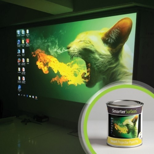 Smart Projector Paint Pro - Smart Projector Paint Pro allows you to transform any smooth paintable surface into a high performance projector screen. Smart Projector Paint Pro facilitates the projection of bright, sharp images in high definition. It has been designed and tested to provide maximum projection surface performance.