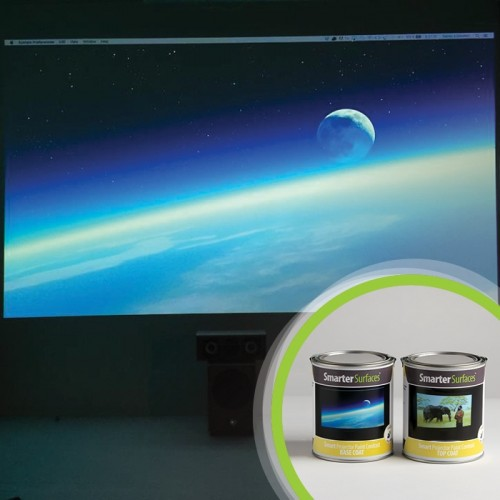 Smart Projector Paint Contrast - Transform any smooth surface into the ideal space for home cinemas or gaming with Smart Projector Paint Contrast. This is a high quality and low cost product that provides stronger definition on darker images and better overall quality of back image.