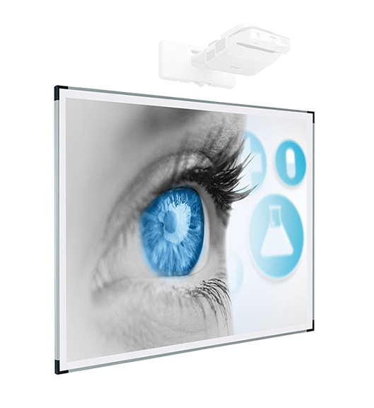 Slimline projection, writing and magnetic board - Slimline sharp projection board that is magnetic and dry erasable.