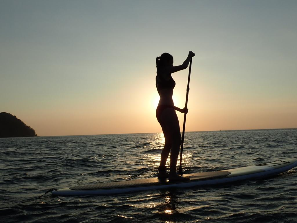 Sunset Tour - 2 HRS $35 PER PERSONThe Sunset Tour starts at our facilities, in Playa Herradura. It's a guided tour, paddling all over the Bay until sunset. Level: For All Levels-Beginner, Intermediate, Advanced*If you haven't paddled before, we offer an introductory technical chat.Contact Us