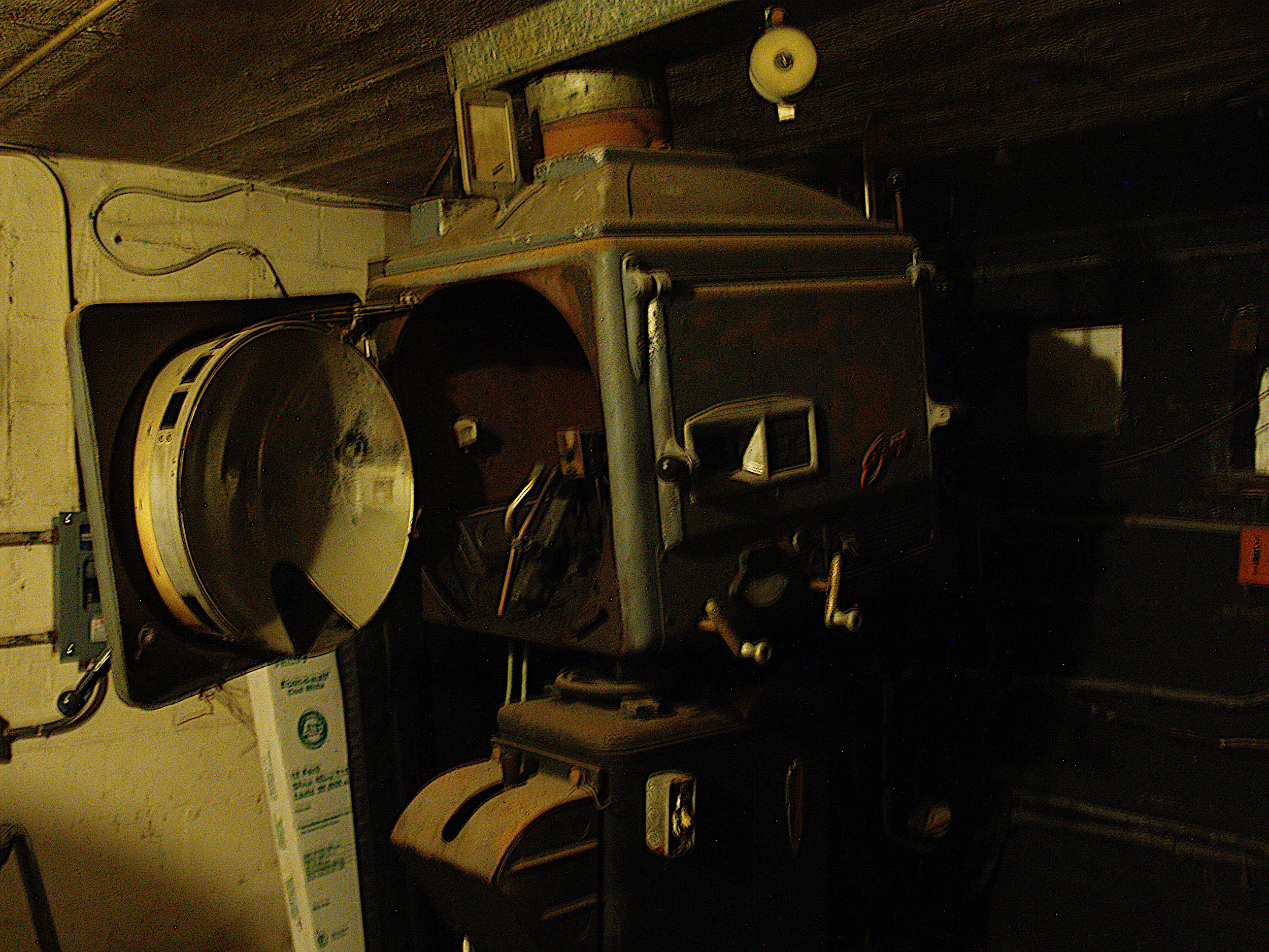 The projector hidden underground.