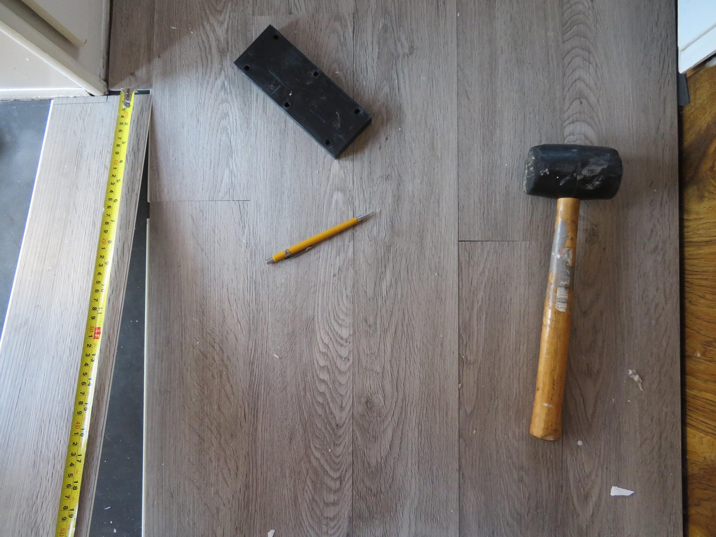 Installing the new floor