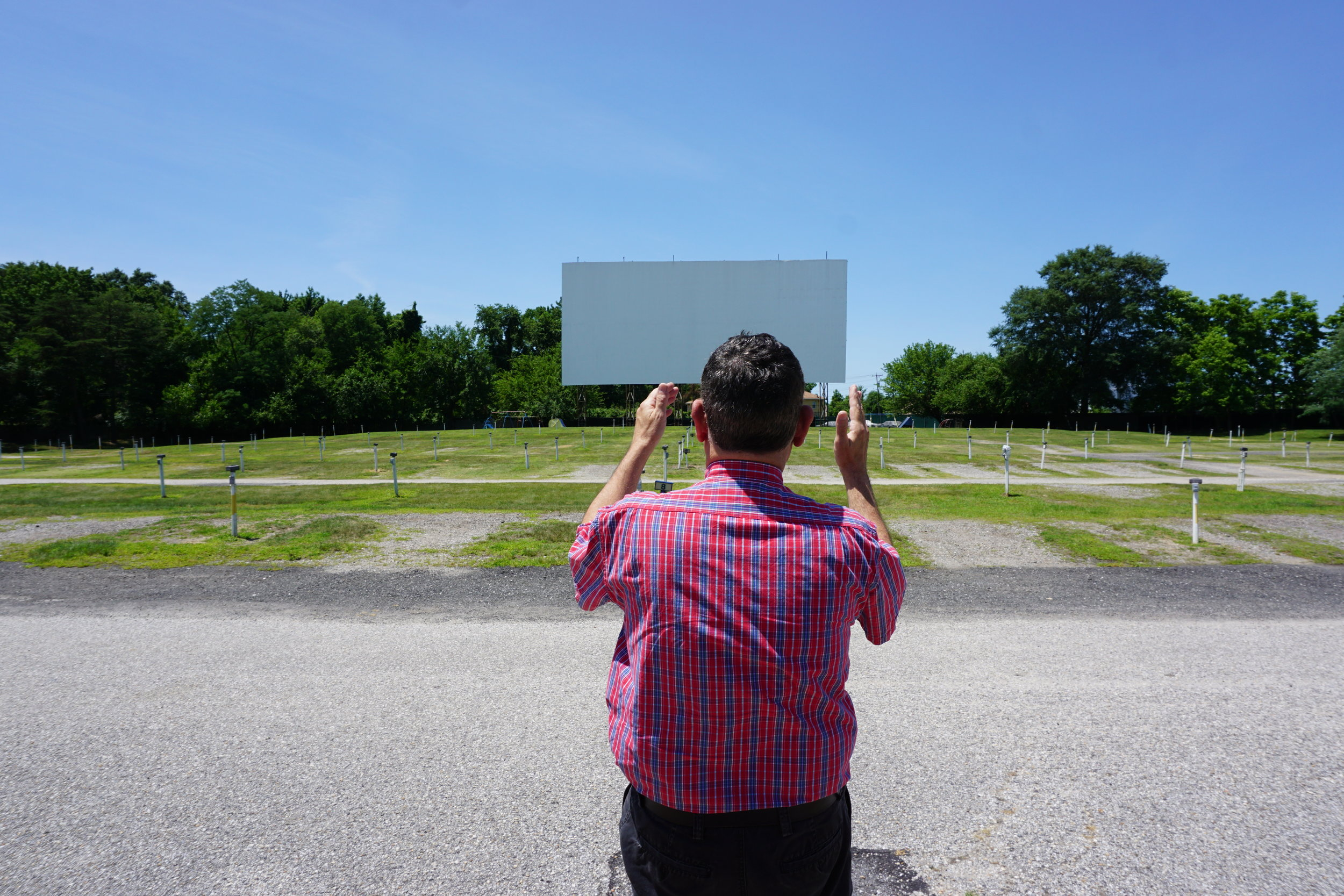 D Vogel and the largest drive-in screen in the country