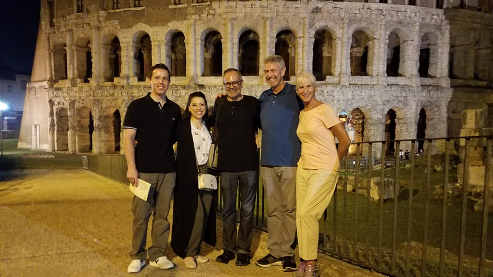 A SMALL GROUP OF HAPPY TRAVELERS!     Teatro Marcello