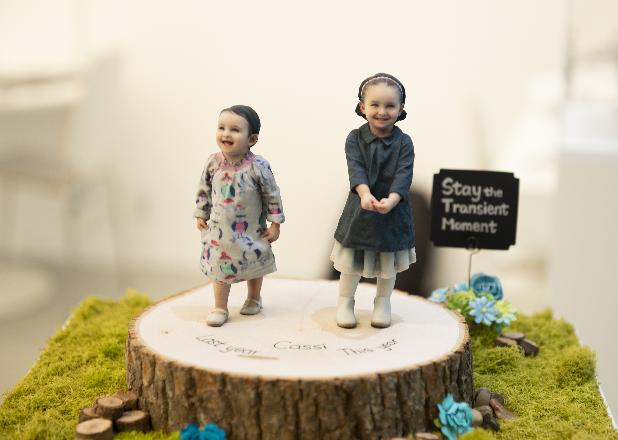 3D photo figurine for newborns